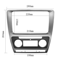 Quality Fascia For Skoda Octavia Auto AC 2010 - 2013 DVD Stereo Frame Mounting Panel Dash Installation Bezel Trim Kit for 2 Di for sale