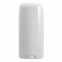 Buy cheap Custom Design White Twist-up Oval Shape Empty Plastic Deodorant Containers from wholesalers
