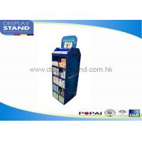 Best 2 Sides Blue Cardboard Pallet Display With Paper Towel For Business Show wholesale