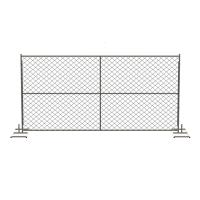 Quality Silver Temporary Mesh Fence Panels Metal Pipe and Wire Mesh Materials for sale