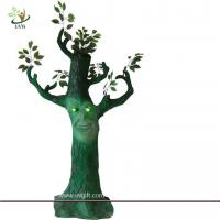 Best UVG 6ft tall fake cheap halloween tree with LED lights for party games background decoration wholesale