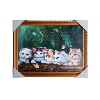 China Love Cat Image Lenticular 3d Pictures Decoration Craft Modern PS Frame For House on sale