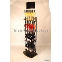 Metal 3 Tier Wine Display Stand / Tiered Liquor Shelf Free Standing