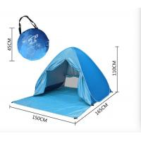 China Best Automatic Pop Up Beach Tent For Festival Camping Printing Silver Coated 190T Polyester Canopy Front W/Door Curtain on sale