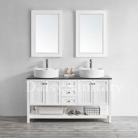Buy cheap Daisy white Wood Bathroom Vanity double sink with modern luxury style from wholesalers