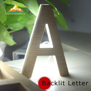 Quality Wooden Backlit Letter Sign Wooden Luminous Advertising Letters Hot Sale Backlit Letter Sign for sale