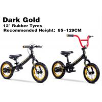 "Quality 12""  High Quality  High Carbon Steel 3in1 Kids Balance Bike No Pedal Children BMX Bicycle for 2-12 Years Dark Gold for sale"