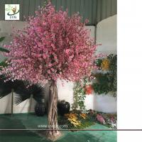 Best UVG CHR150 Beach wedding use tall artificial trees in peach blossom branch and cherry flowers for uk theme decoration wholesale