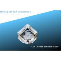 Best cut corner beveled cube/crystal bevelled cube/3d crystal cube/blank crystal award/3d laser wholesale