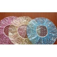 Buy PE Clear Disposable Shower Caps , Disposable Plastic Hair Caps For Hotel / Cooking at wholesale prices