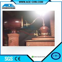 China Vodka Distillery Equipment For Sale & Red Copper Small Size Whiskey Distilling Equipment on sale