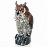Best Garden Sculpture Owl, Garden Defense Owl, Measures 17 x 15 x 41cm wholesale