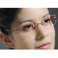 Quality Woman′s Shining Crystal Rimless Eyewear for sale