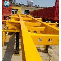 China 20ft 40ft 3 axles customized skeletal container trailer  Semi Trailer for container shipping on sale