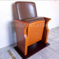 Quality Wooden Small Leather Lecture Hall Seating Folded Chairs For Conference Room for sale