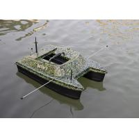 Quality DEVC-308 camouflage catamaran bait boat / rc fishing bait boat 2.4GHz Remote Frequency for sale