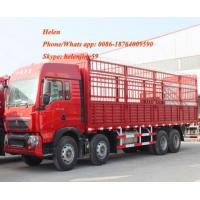 China Red 1.3 Axles  Semi Trailer Trucks  High Coloumn Cargo Trailer on sale
