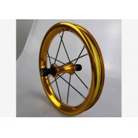 """Quality Super Light 12""""  Aluminum Alloy Double Wall Children Balance Bike Wheelset Kids Bicycle Wheels 85 90 95mm Gold  Color for sale"""