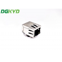 Quality TAB DOWN 1X1 RJ45 Shielded Connector With Filter Outlet for sale