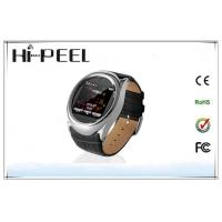 China Leather Strap Auto Recording Mobile Phone GSM Quad Band Watch Phone With Bluetooth on sale