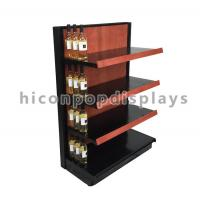 Best Liquor Store Gondola Shelving Units 36 Inch Wide End Cap Wooden Shelving Display Stand wholesale