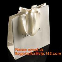 Quality luxury paper shopping bag for jewellry, twist handle luxury print fancy brown kraft art paper carrier bag wholesale for sale