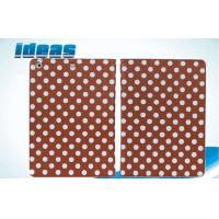Quality Silk Print Dot Apple iPad Leather Cases , Triangle Bracket Holster for sale