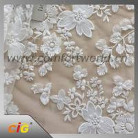 Quality Cotton Nylon Spandex  Embroidered Lace Trimming Fabric For Garment / DIY Craft for sale