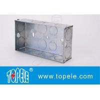 Quality Galvanized Square Electrical Boxes And Covers For Lighting Fixture for sale