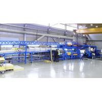 Quality PLC Controlling Rockwool Sandwich Panel Machine PU Coated Roofing Tile Sandwich Forming Machine for sale