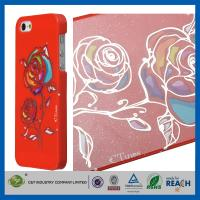 Quality Gold Siliver Foil Bling Flowers Snap-On Apple Iphone 5S Smartphone Back Cover for sale