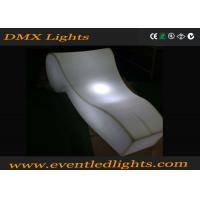 China Rechargeable lighted furniture rentals bar chair , decoration led beach chairs on sale