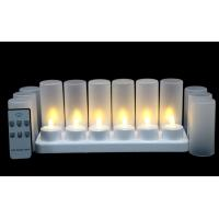 Quality Set of 12 LEDremote control Flameless LED Decorative Candle warm white color for sale