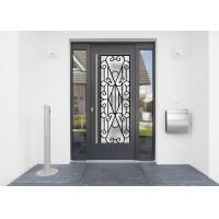 Quality 22*64 Inch Wrought Iron Security Doors Glass Agon Filled Shaped Wrought Iron Exterior Doors for sale
