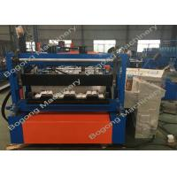 Quality Steel Roof Floor Deck Roll Forming Machine Hydraulic Cutting PLC Control System for sale