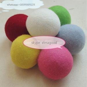 China china factory Colored Pure Genuine 100% Wool Felt Dryer Ball Nepal Felt Balls on sale