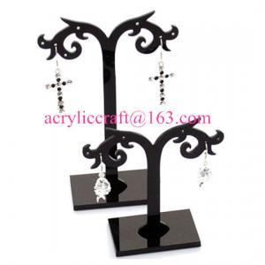 Best Plastic Display Rack Black Acrylic Display Stand For Earrings wholesale