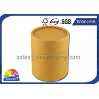 Best No Printing Kraft Cardboard Tubes Packaging , Cylinder Round Kraft Paper Cans wholesale