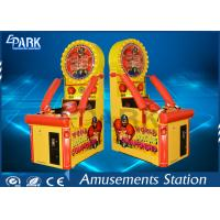 China Kids Arcade Punching Machine / Punching Game Machine Steel Wooden Material for sale