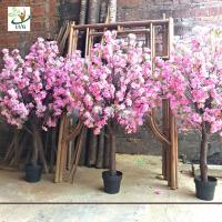 Buy cheap UVG fake cherry blossom decorative artificial wooden tree for top table landscaping CHR164 from wholesalers