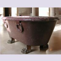 Quality Home deocration pink marble bathtub with polish surface for bathroom,china sculpture supplier for sale