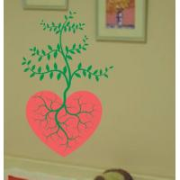 Quality Large Wall Flower Stickers G135 / Design Wall Sticker for sale