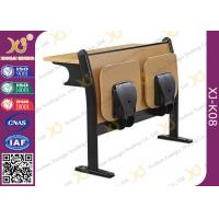 China Melamine Desktop Foldable Lecture Theatre Chairs Iron Hinge Type , ISO9001 on sale