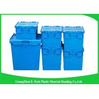 Quality Nestable Plastic Attached Lid Containers ,  Industrial Storage Turnover Crate for sale