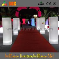 Best Colorful Wedding Decoration Flower Pots Plastic Flower Pillars for Indoor / Outdoor wholesale