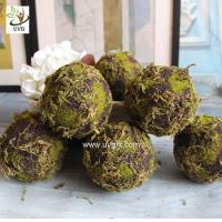 Quality UVG arts and crafts artificial moss ball fake garden stone for wedding event decoration GRS043 for sale