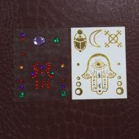 China Temporary Henna Design Rhinestone Tattoo Stickers , Face Jewels And Rhinestones on sale