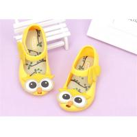 China Ankle Strap Little Kids Shoes Baby Girl Sandals With Lovely Owl Bird Decorations on sale
