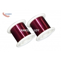 Quality Red Color 0.1mm Enameled Winding Wire Polyester Insulation for sale