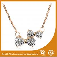 China Jewelry Statement Collar Ruby Butterfly Necklace Round Diamond on sale